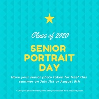 Free Portrait Sessions for the Class of 2020