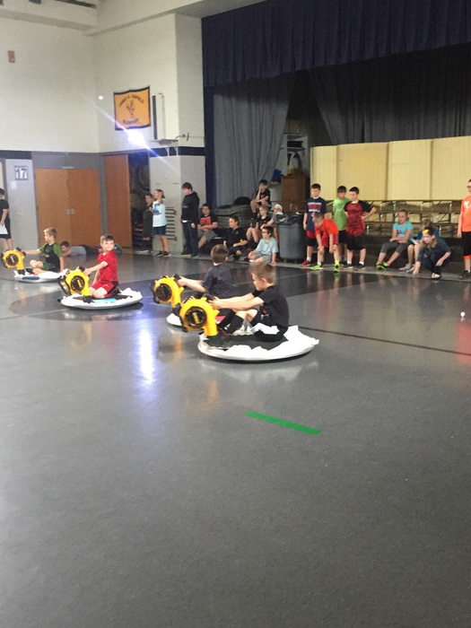 Hovercrafts in action!