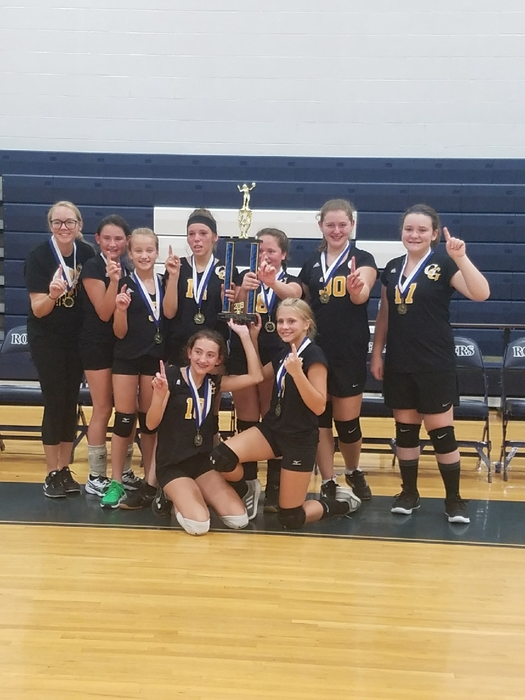 7th grade volleyball - Rover Invitational winners!