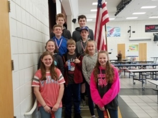 7th grade GMS Math Tournament team